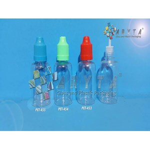 Botol plastik PET 30ml liquid childproff biru (PET455)