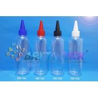 Botol plastik PET 250ml Joni tutup tinta putih (PET743)    1