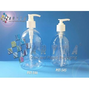 Botol plastik PET 500ml handshoap tutup pump (PET546)