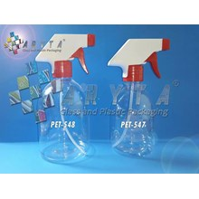 Botol plastik PET 300ml handshoap tutup trigger merah (PET547)