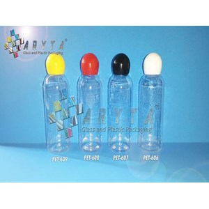 Botol plastik PET 60ml Lena  tutup  merah globe (PET608)