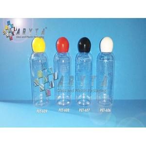 Botol plastik PET 60ml Lena  tutup kuning globe (PET609)