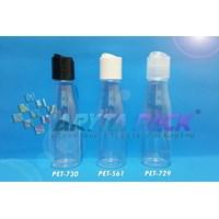 Botol plastik PET Amos 100ml  tutup press on hitam (PET730) 1