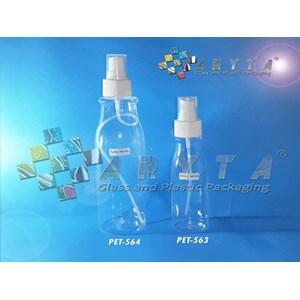 Botol plastik PET amos 250ml tutup spray (PET564)