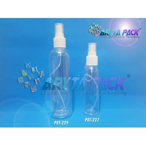 Botol plastik PET 250ml Joni tutup spray (PET229)