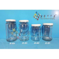 Jar kaca 330ml tutup kaleng putih (New) (JR758)