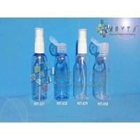PET431. Botol plastik PET 60ml lena biru tutup spray                            1