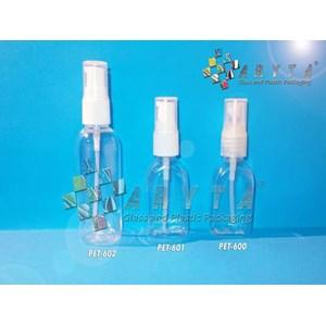 Botol plastik PET 30ml kosmetik gepeng tutup spray (PET600)