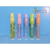 Botol plastik PET 20ml orange tutup spray (PET305)                           1