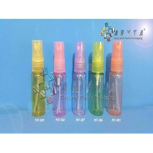 Botol plastik PET 20ml kuning tutup spray (PET309)