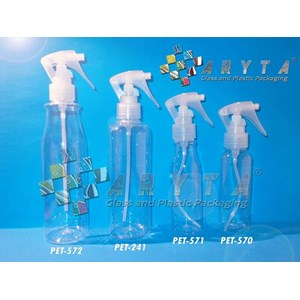 Botol plastik PET 100ml Amos tutup spray pistol (PET571)