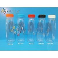 Botol plastik minuman 250ml jus organik tutup natural segel (PET638)