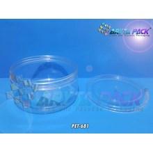 Toples plastik PET kue 1kg bulat tutup ulir (PET681)