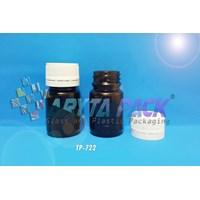 TP722. Botol kaca coklat 30ml fitkom tutup plastik (New)