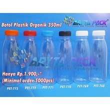Plastic bottle 350 ml organic juice drink lid seal