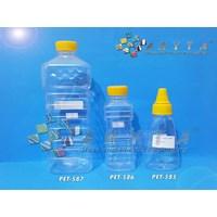 Jual Botol plastik PET 1 liter Minyak goreng tutup kuning (PET587)