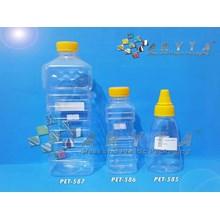 Botol plastik PET 1 liter Minyak goreng tutup kuning (PET587)