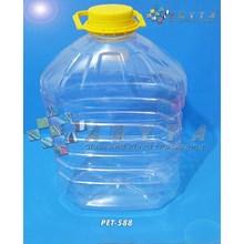 Botol plastik PET 5 Liter Minyak goreng tutup kuning (PET588)