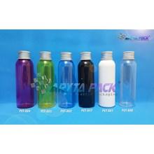 Botol plastik PET Lena putih susu 100ml  tutup kaleng silver (PET801)