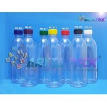 Botol plastik minuman 500ml M-plus tutup hitam segel (PET811)