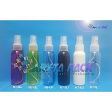 Botol plastik PET Lena natural 100ml tutup spray natural (PET831)