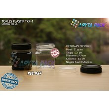PET937. Jar 100 ml PET plastic SCENE-1 Cap Black