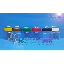 Toples plastik PET 100ml TKP-1 tutup hitam (PET937)