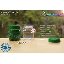 PET939. Jar 100 ml PET plastic SCENE-1 Cap Green