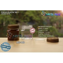 PET940. Jar 100 ml PET plastic SCENE-1 cover gold