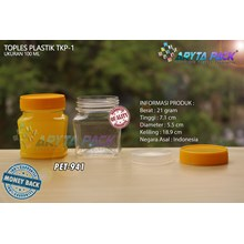 PET941. Jar 100 ml PET plastic SCENE-1 Cap yellow