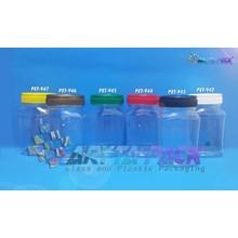 Toples plastik PET 200ml TKP-2 tutup hijau (PET945)