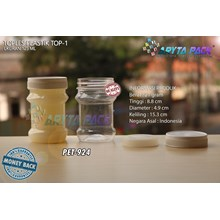 PET924. PET plastic jar 125 ml white TOP-1 Cap
