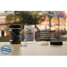 PET925. PET plastic jar 125 ml TOP-1 Cap Black