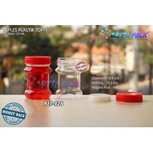 PET926. PET plastic jar 125 ml red TOP-1 Cap