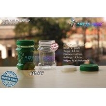 PET927. PET plastic jar 125 ml TOP-1 Cap Green