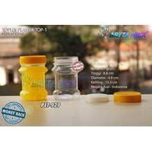 PET929. PET plastic jar 125 ml TOP-1 Cap yellow