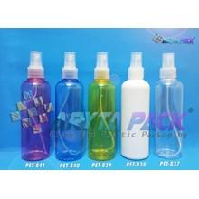 Botol plastik PET 250ml joni biru tutup spray natural (PET840)