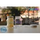 Toples plastik PET 200ml selai cinta tutup putih (PET995)  1