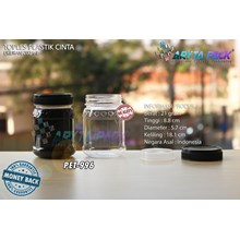 PET996. PET plastic 200 ml jar jam love black cap