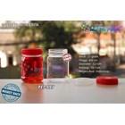 Toples plastik PET 200ml selai cinta tutup merah (PET997)  1