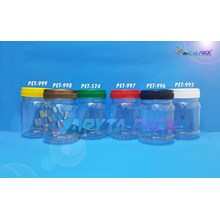 Toples plastik PET 200ml selai cinta tutup merah (PET997)