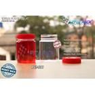 Toples plastik PET 200ml selai bulat tutup merah (PET981) 1