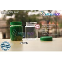 PET982. Jar jam 200 ml PET plastic round cover Green