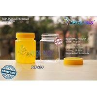 PET984. Jar jam 200 ml PET plastic round cover yellow