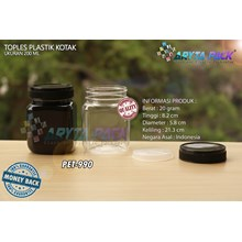 PET990. Jar jam 200 ml PET plastic box cover black