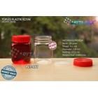 Toples plastik PET 200ml selai kotak tutup merah (PET991) 1