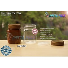 PET993. Jar jam 200 ml PET plastic box cover gold