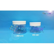 Toples plastik PET Jar SP 250ml tutup putih (PET573)