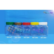 Toples plastik PET 300ml BKS tutup kuning (PET1093)