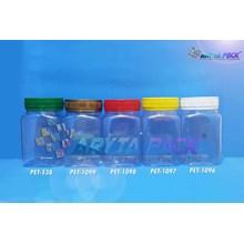 Toples plastik PET 350ml BKS tutup kuning (PET1097)